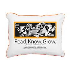 Reading Friends Rectangular Canvas Pillow