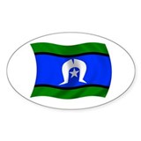 Waving TSI Flag Oval Bumper Stickers