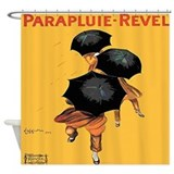 Vintage Cappiello Umbrella Shower Curtain