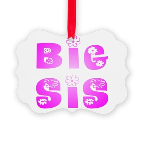 bigsis2.JPG Picture Ornament