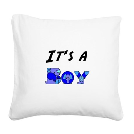 Boy Square Canvas Pillow