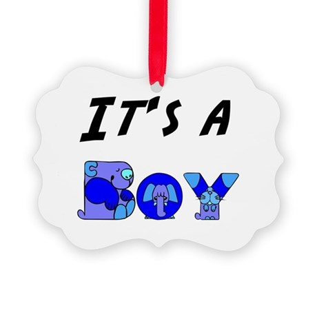 Boy Picture Ornament