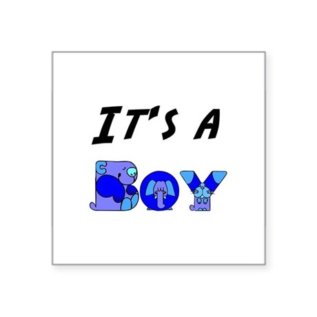 "Boy Square Sticker 3"" x 3"""
