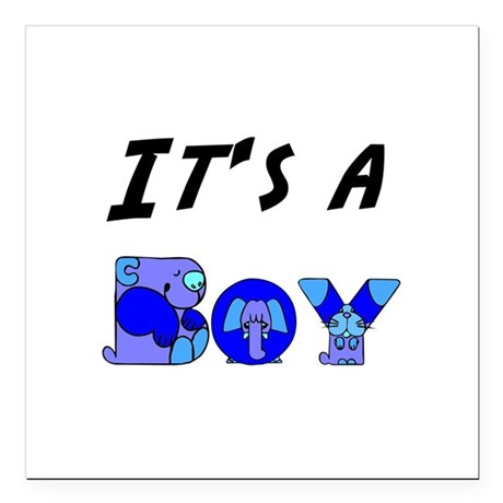 "Boy Square Car Magnet 3"" x 3"""