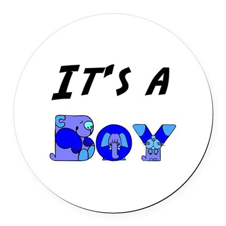 Boy Round Car Magnet
