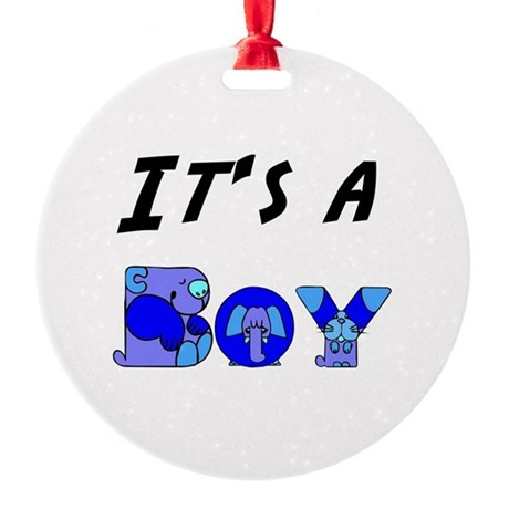 Boy Round Ornament