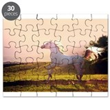 Arabian horse on sunset Puzzle