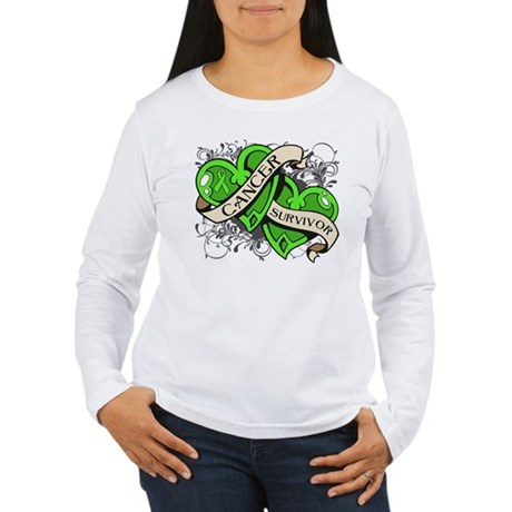 Lymphoma Survivor Hearts Women's Long Sleeve T-Shi