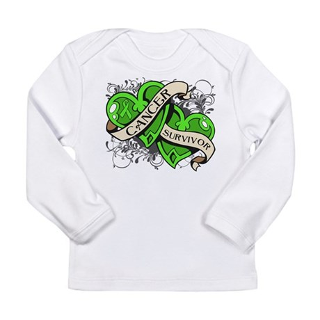 Lymphoma Survivor Hearts Long Sleeve Infant T-Shir