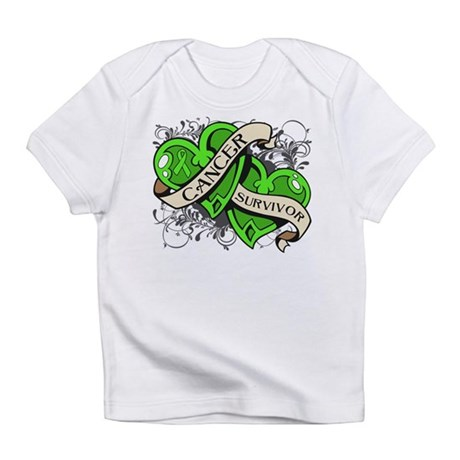 Lymphoma Survivor Hearts Infant T-Shirt