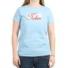 """TAKEN"" Women's Pink T-Shirt"