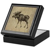 Vintage Moose Keepsake Box
