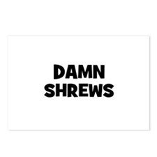 Damn Shrews Postcards (Package of 8)