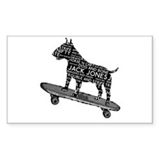 Vintage Bull Terrier Skateboarding London Slang St