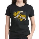 Neuroblastoma Survivor Women's Dark T-Shirt