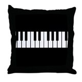 Cute Piano Throw Pillow