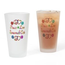 Savannah Cats Drinking Glass