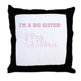 Big Sister Stick Family Throw Pillow