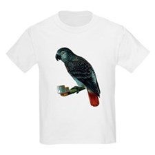 Gray Parrot Bird Kids T-Shirt
