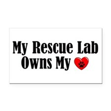 Heart Owning Rescue Lab Rectangle Car Magnet