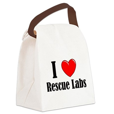 I Love Rescue Labradors Canvas Lunch Bag