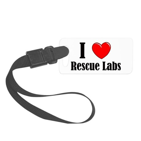 I Love Rescue Labradors Small Luggage Tag