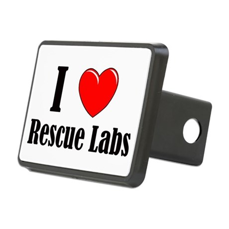 I Love Rescue Labradors Rectangular Hitch Cover