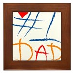 #1 Dad Framed Tile