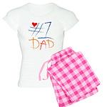 #1 Dad Women's Light Pajamas
