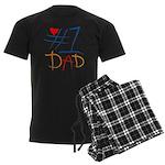 #1 Dad Men's Dark Pajamas