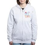 #1 Dad Women's Zip Hoodie