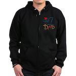 #1 Dad Zip Hoodie (dark)