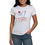 #1 Dad Women's T-Shirt