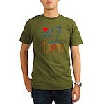#1 Dad Organic Men's T-Shirt (dark)