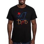 #1 Dad Men's Fitted T-Shirt (dark)