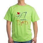#1 Dad Green T-Shirt