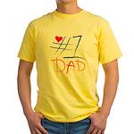 #1 Dad Yellow T-Shirt