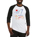 #1 Dad Baseball Jersey