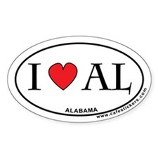 I Love Alabama Decal