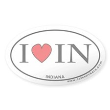 I Love Indiana Decal
