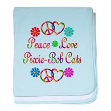 Pixie-Bob Cats baby blanket