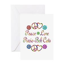 Pixie-Bob Cats Greeting Card