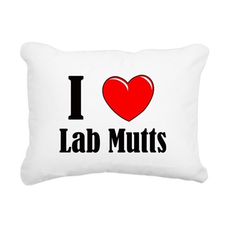 I Love Mixed Labradors Rectangular Canvas Pillow