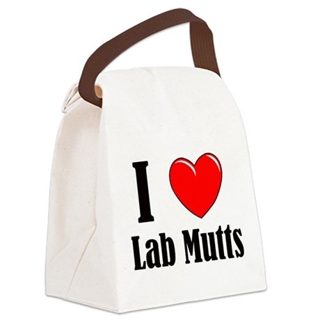 I Love Mixed Labradors Canvas Lunch Bag