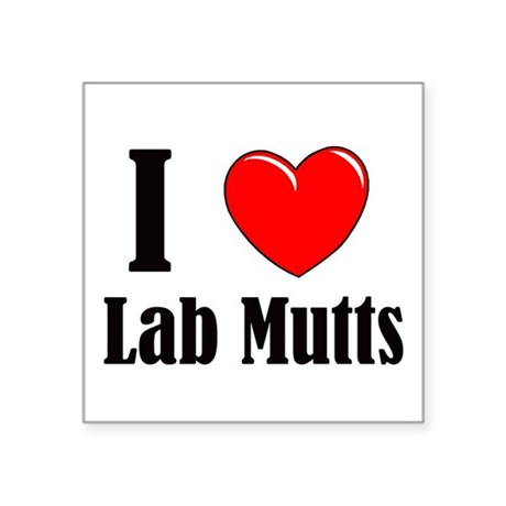 "I Love Mixed Labradors Square Sticker 3"" x 3"""