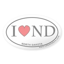 I Love North Dakota Decal