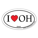 I Love Ohio Decal