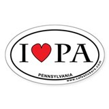I Love Pennsylvania Decal