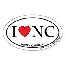 I Love North Carolina Decal