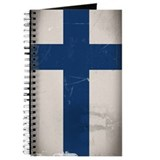 Distressed Finnish Flag Journal